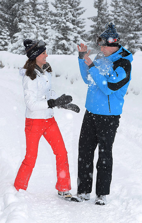 <div class='meta'><div class='origin-logo' data-origin='none'></div><span class='caption-text' data-credit='John Stillwell/Pool via AP'>Britain's Prince William and Kate Duchess of Cambridge enjoy a snow ball fight in the French Alps on March 3, 2016.</span></div>