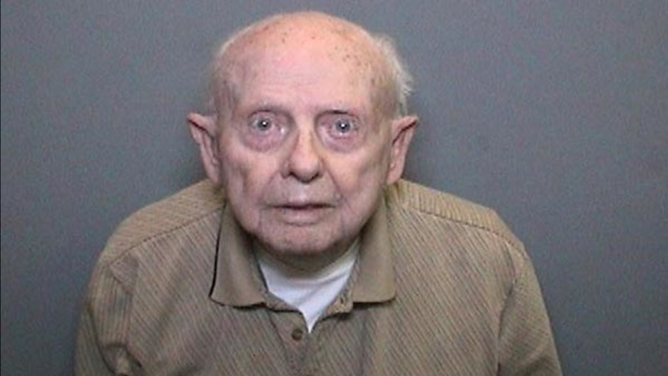 A 96-year-old man is facing charges of touching young girls inappropriately and removing a diaper to expose himself.
