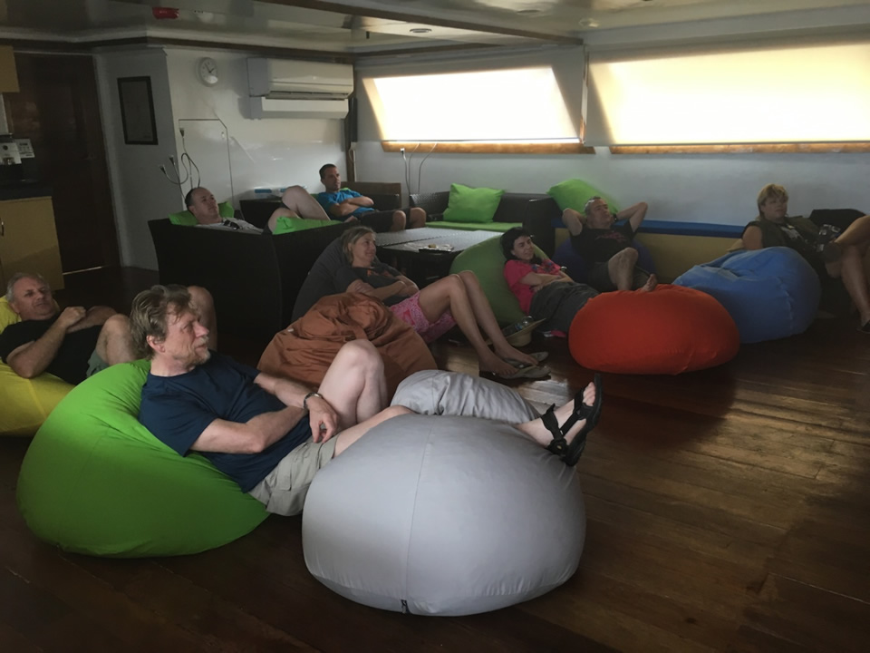 """<div class=""""meta image-caption""""><div class=""""origin-logo origin-image none""""><span>none</span></div><span class=""""caption-text"""">This image taken in March 2016 shows Exploratorium workers watching """"Jaws"""" while on a boat heading to the remote island of Woleai, a tiny atoll in Micronesia. (The Exploratorium)</span></div>"""