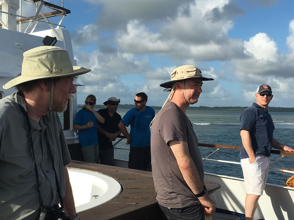 """<div class=""""meta image-caption""""><div class=""""origin-logo origin-image none""""><span>none</span></div><span class=""""caption-text"""">This image taken in March 2016 shows Exploratorium workers on their way to the remote island of Woleai, a tiny atoll in Micronesia. (The Exploratorium)</span></div>"""