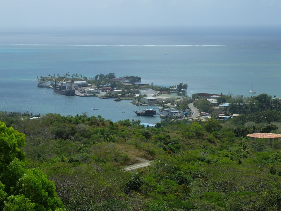 """<div class=""""meta image-caption""""><div class=""""origin-logo origin-image none""""><span>none</span></div><span class=""""caption-text"""">This image taken in March 2016 shows the view of Colonia from a nearby summit on the remote island of Woleai, a tiny atoll in Micronesia. (The Exploratorium)</span></div>"""