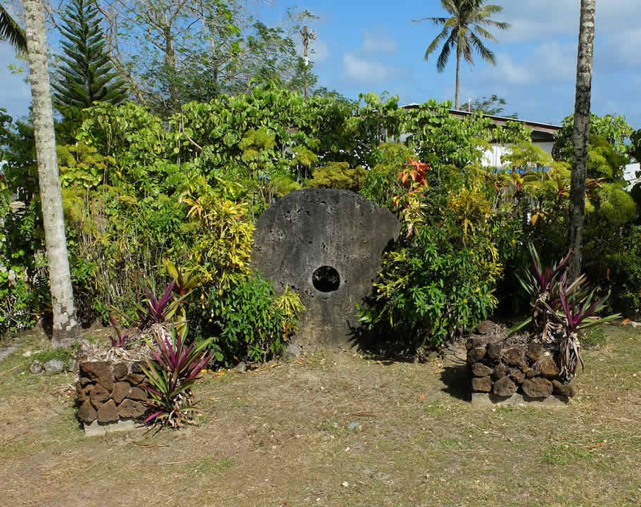 """<div class=""""meta image-caption""""><div class=""""origin-logo origin-image none""""><span>none</span></div><span class=""""caption-text"""">Exploratorium scientists say this image taken in March 2016 shows Yap stone money at their hotel on the remote island of Woleai, a tiny atoll in Micronesia. (The Exploratorium)</span></div>"""