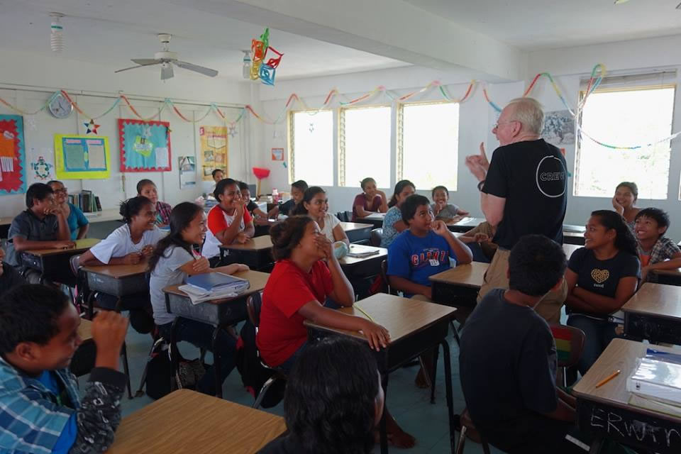 """<div class=""""meta image-caption""""><div class=""""origin-logo origin-image none""""><span>none</span></div><span class=""""caption-text"""">This image taken in March 2016 shows Exploratorium Senior Scientist Paul teaching in Yap on the remote island of Woleai, a tiny atoll in Micronesia. (The Exploratorium)</span></div>"""