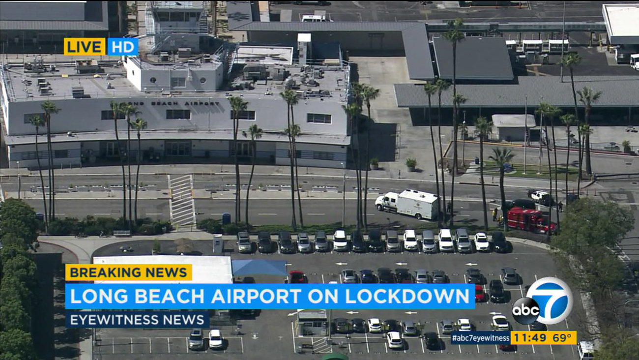 A lockdown at the Long Beach Airport triggered by a suspicious bag was lifted by noon on Wednesday, March 9, 2016.