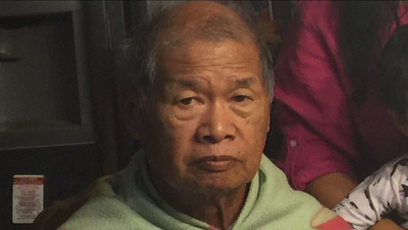 Police say 83-year-old Esteban Reynaldo was reported missing on Wednesday, March 8, 2016 in Santa Clara, Calif.