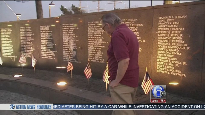 Vietnam Veterans Memorial Vandalized In Penns Landing 6abc Philadelphia
