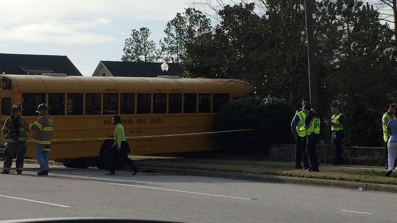Wake County school bus accident Thursday morning