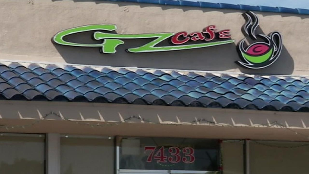 The sign for GZ Cafe in Stanton, California is seen in this undated file photo.