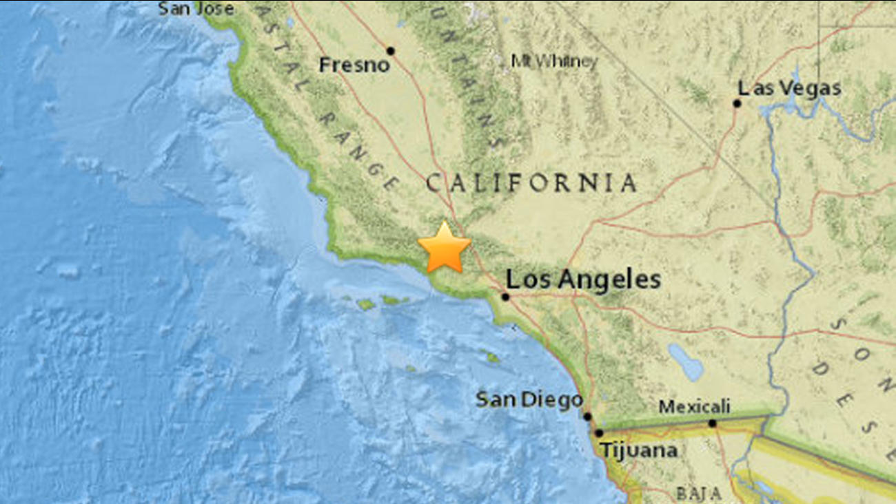 The United States Geological Survey said a 3.3-magnitude earthquake struck near Ojai on Friday, March 11, 2016.