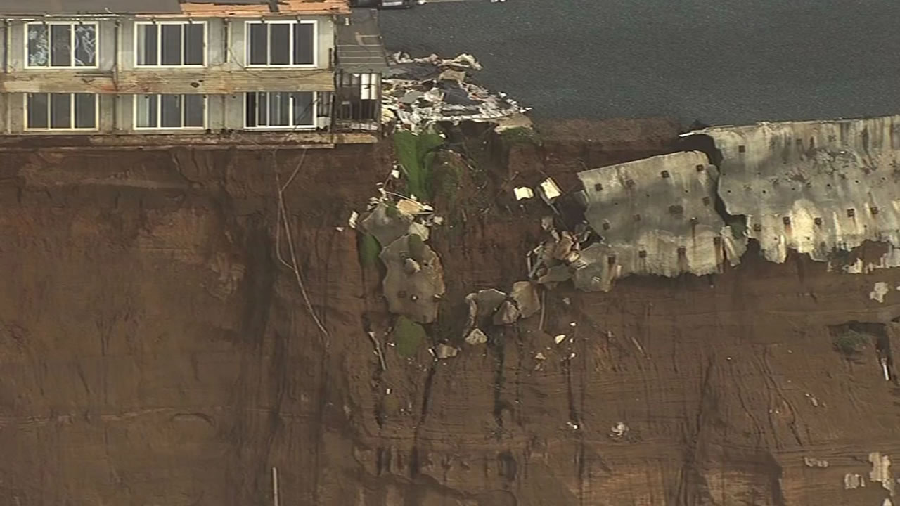 Sky7 HD shows apartments along Esplanade Avenue in Pacifica March 11, 2016 that are slated for demolition.