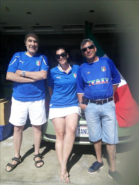 "<div class=""meta image-caption""><div class=""origin-logo origin-image ""><span></span></div><span class=""caption-text"">Family from Cloverdale is rooting for Italy!  World Cup celebrations are happening everywhere.  Send your photos to uReport@kgo-tv.com (photo submitted by Gianfranco Ziviani via uReport)</span></div>"