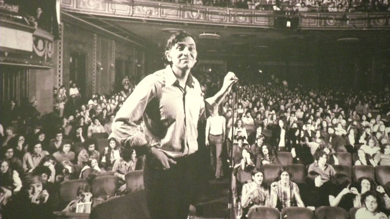 This image shows a photograph of Bill Graham that's on display currently at the Contemporary Jewish Museum in San Francisco through July 5, 2016.