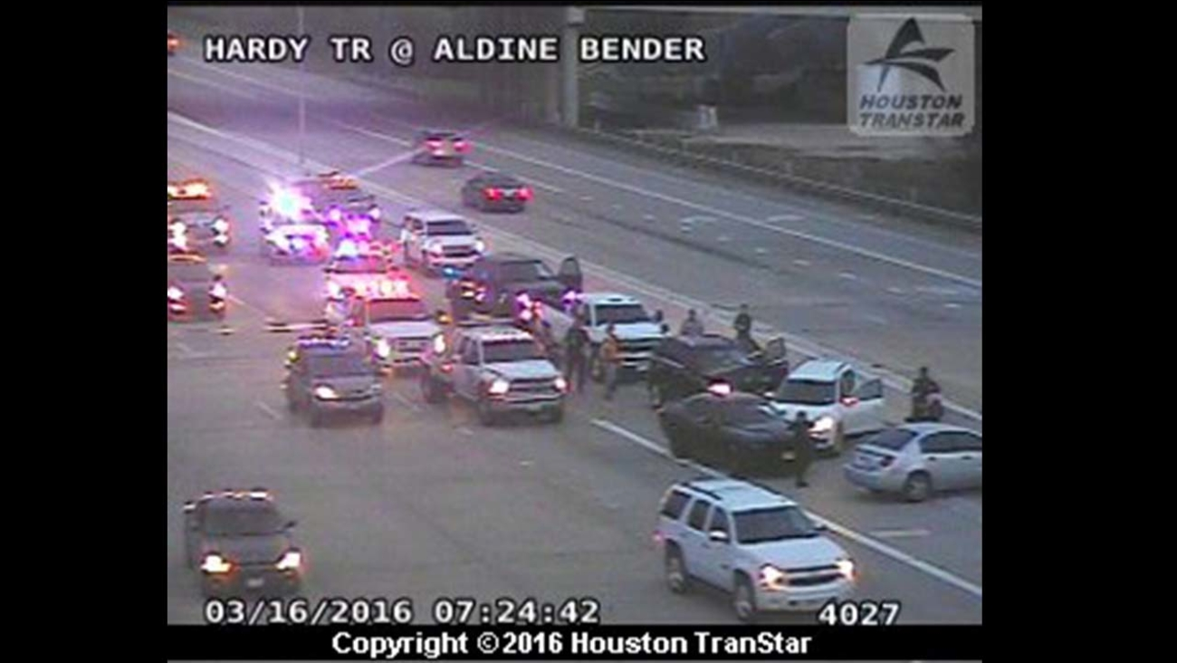 Crash at Hardy Toll Road at Aldine Bender