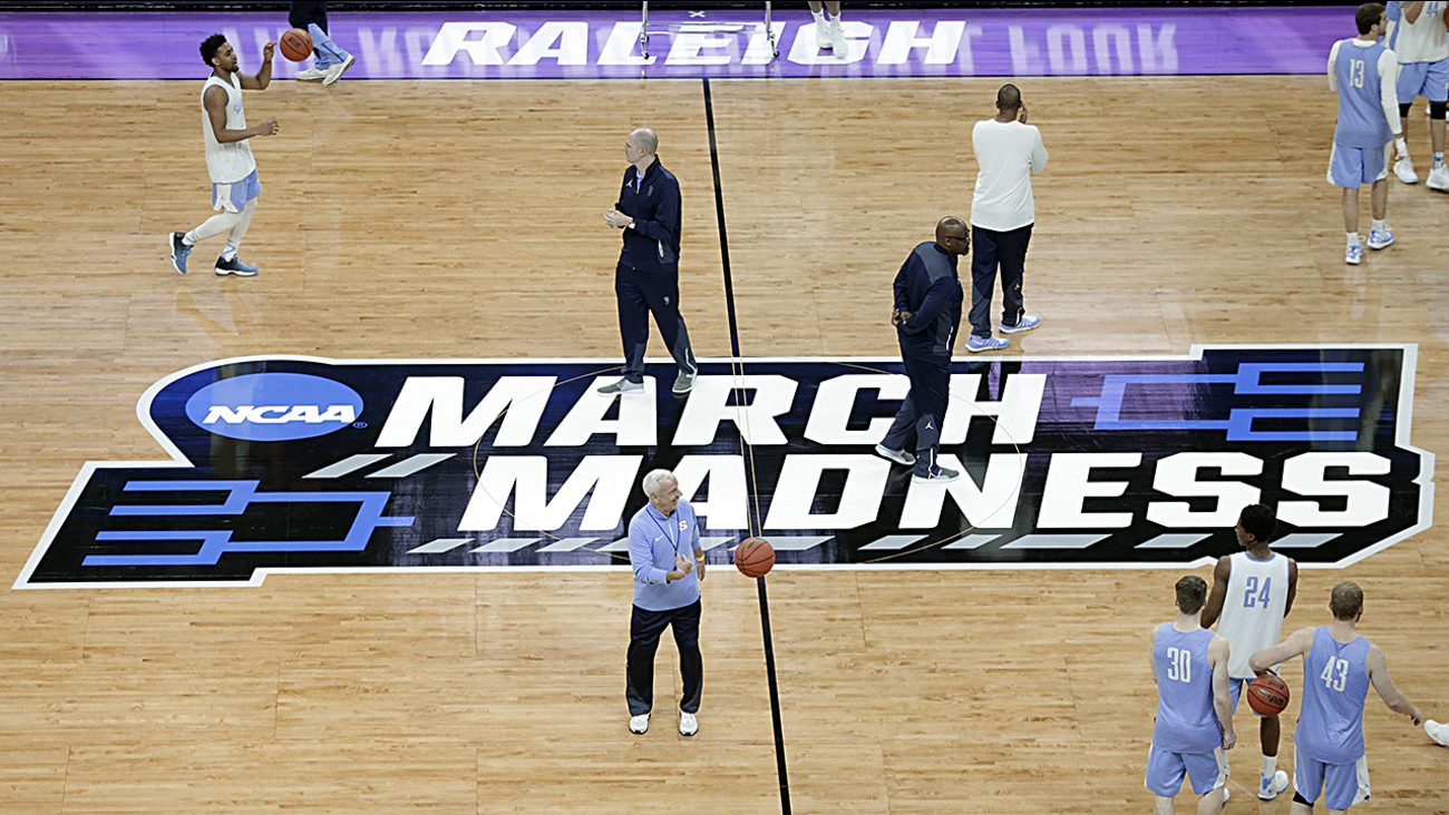 Roy Williams and the Tar Heels practice Wednesday in preparation for their opening game.