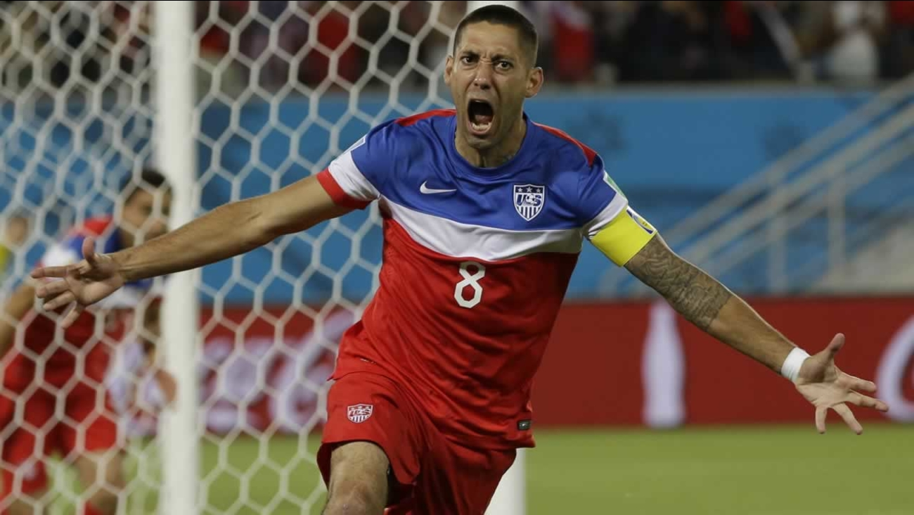 e7afdc212 United States  Clint Dempsey celebrates after scoring the opening goal  during the group G World