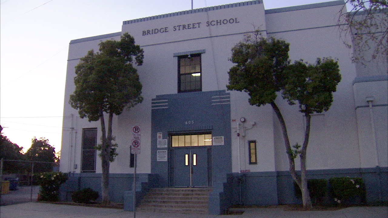 Police said a 5th grade boy was stabbed at Bridge Street Elementary School in Boyle Heights on Thursday, March 17, 2016.