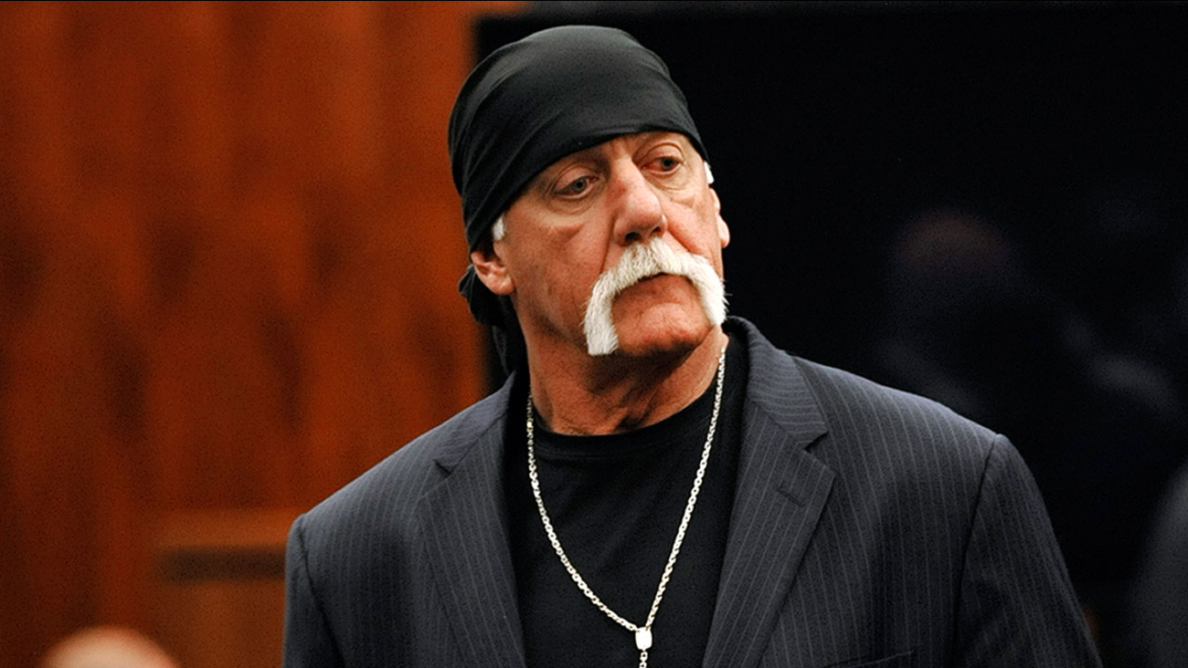 Hulk Hogan, whose given name is Terry Bollea, leaves the courtroom during a break Wednesday, March 9. 2016, in his trial against Gawker Media in St. Petersburg, Fla.