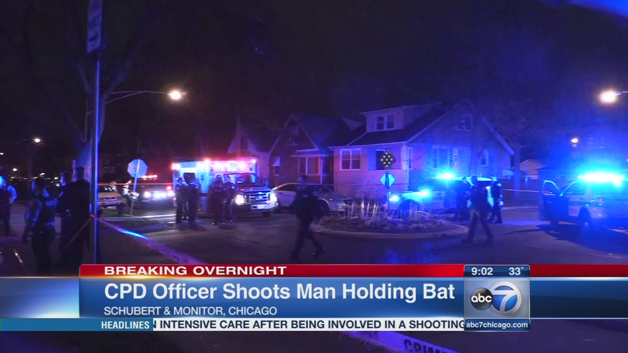 Officer shoots man attacking him with bat on NW Side, police say