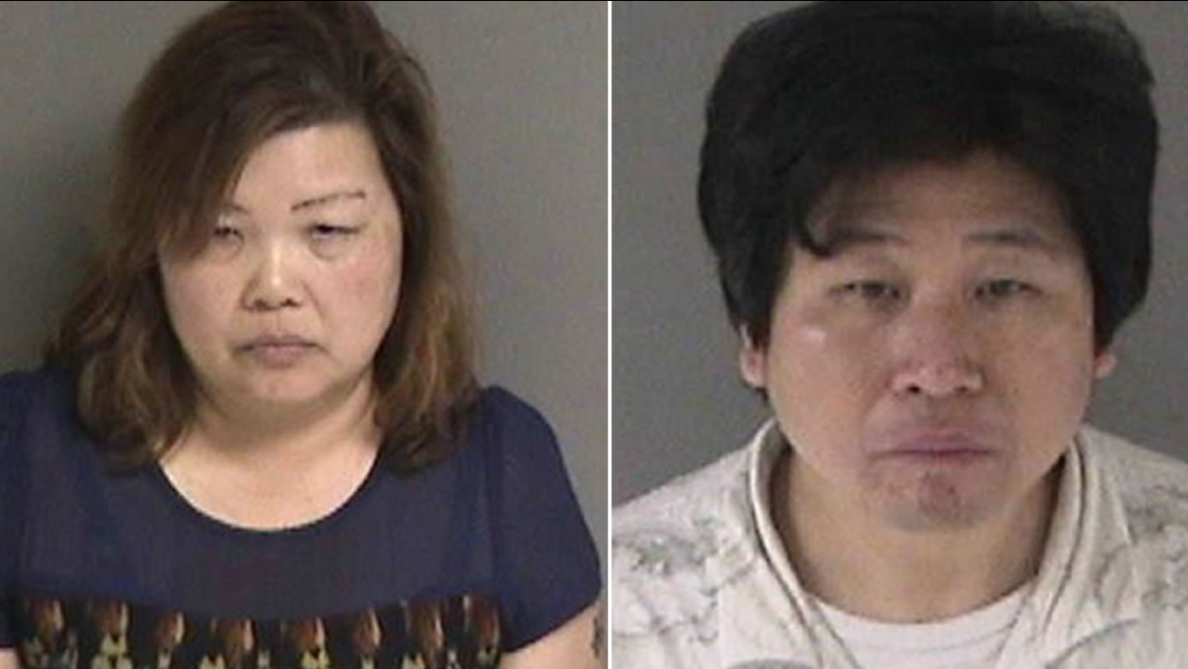 Dublin police released this image of 45-year-old Curtis Ng and 49-year-old Shelly Yu, who were arrested Friday, March 18, 2016 on charges of pimping and pandering.