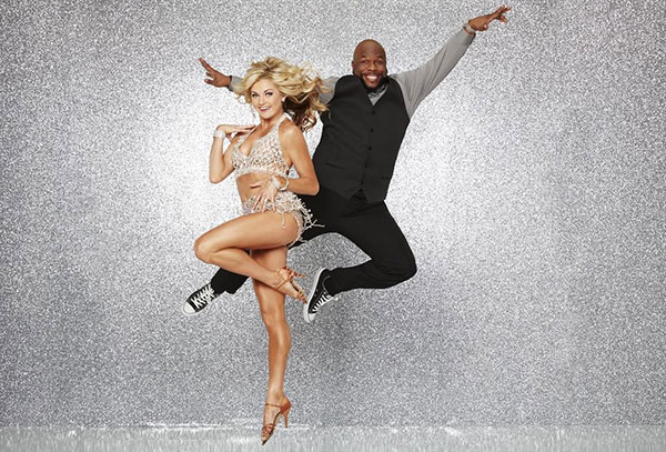 "<div class=""meta image-caption""><div class=""origin-logo origin-image none""><span>none</span></div><span class=""caption-text"">Wanya Morris of Boyz II Men poses with partner Lindsay Arnold. (ABC Television Network)</span></div>"