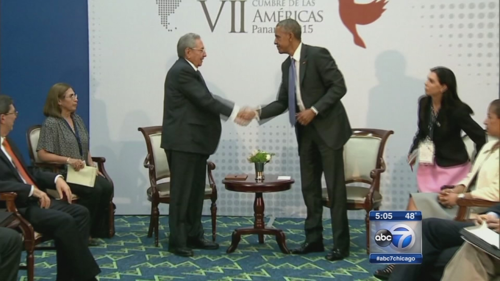 Obama, Castro meeting watched closely by Cuban-Americans ...