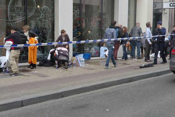 <div class='meta'><div class='origin-logo' data-origin='none'></div><span class='caption-text' data-credit='dirkalaerts/Twitter'>The scene in Brussels, Belgium following deadly explosions.</span></div>