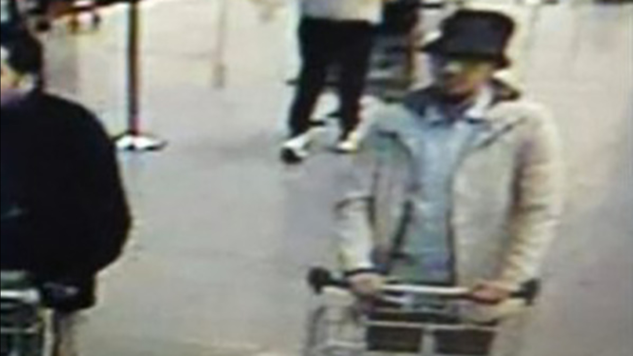 Belgian police are searching for a possible suspect who was captured on video at the Brussels airport.
