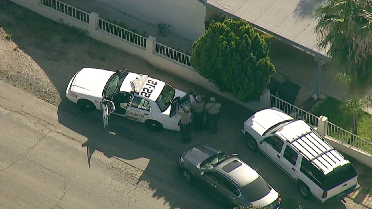 A suspect is barricaded inside a Chino Hills home after a report of a shooting.
