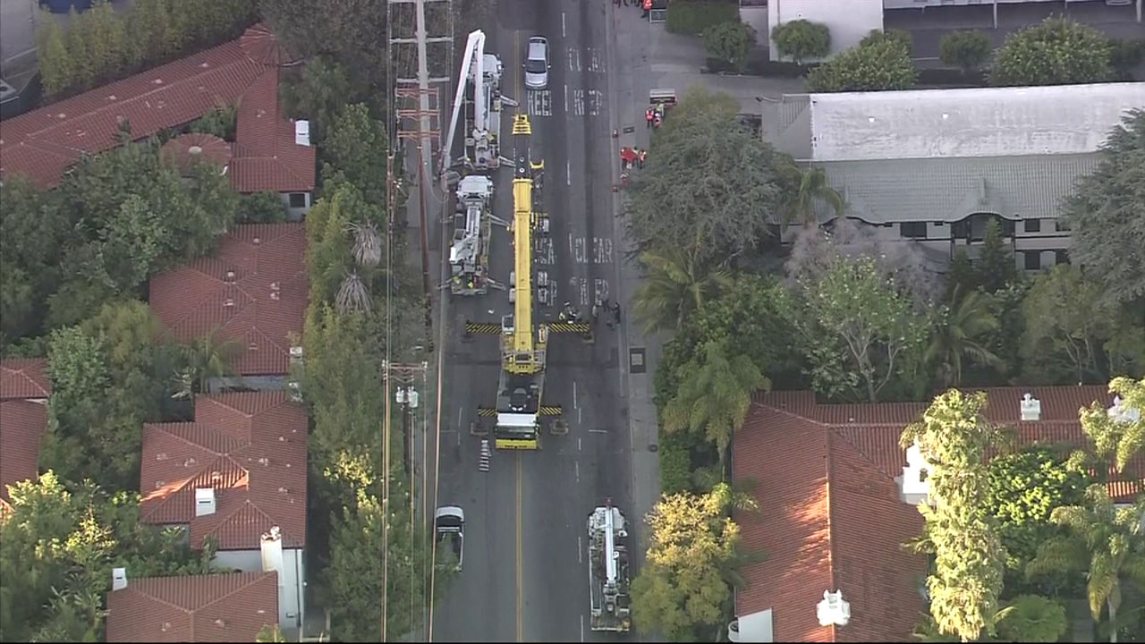 One person was killed after a crane accident in West Hollywood, according to officials.