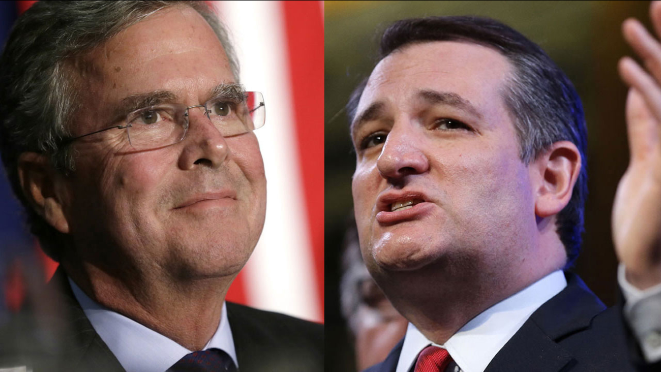 Jeb Bush and Ted Cruz