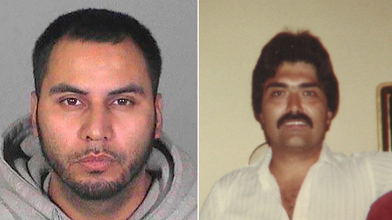 Police say Randy Marquez, 30, (left) fatally struck Victor Gallegos, 58, (right) near Pickering Avenue and Hadley Street in Whittier on Saturday, March 19, 2016.