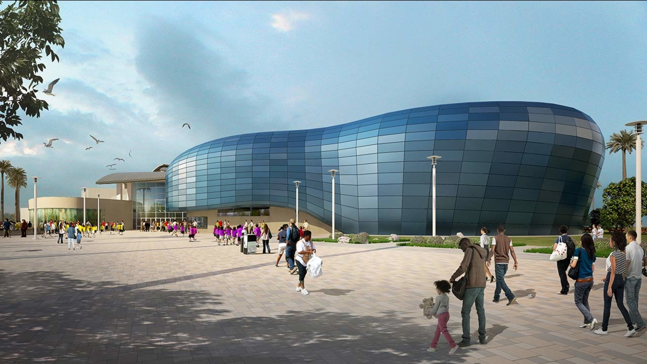 Artists' rendering of the planned expansion of the Aquarium of the Pacific in Long Beach.