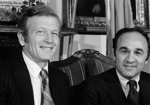 <div class='meta'><div class='origin-logo' data-origin='AP'></div><span class='caption-text' data-credit='AP Photo/Marty Lederhandler'>Federal prosecutor Nicholas Scoppetta, right, is pictured with New York City Mayor John Lindsay, Nov 8, 1972, when he was named by Lindsay as the city's investigation commissioner.</span></div>