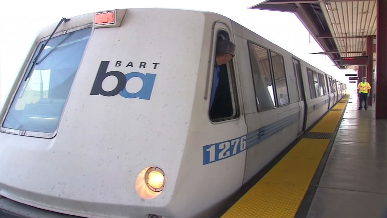 A BART train is seen in this undated image.