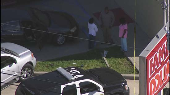 """<div class=""""meta image-caption""""><div class=""""origin-logo origin-image ktrk""""><span>KTRK</span></div><span class=""""caption-text"""">An aerial image of a northwest Houston Family Dollar store where one person has died after a robbery (KTRK)</span></div>"""