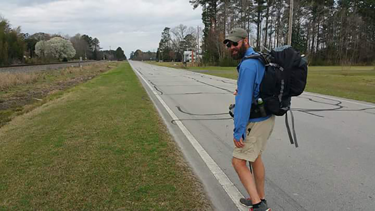 Michael Boncek is walking 2,200 miles to raise awareness for veteran's suicide rate