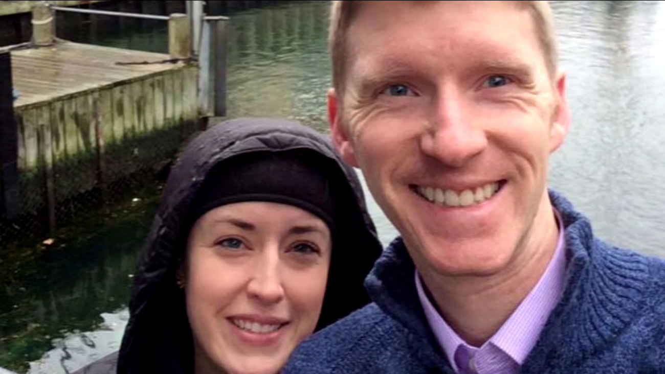 American couple Justin and Stephanie Shults are shown in an undated photo.