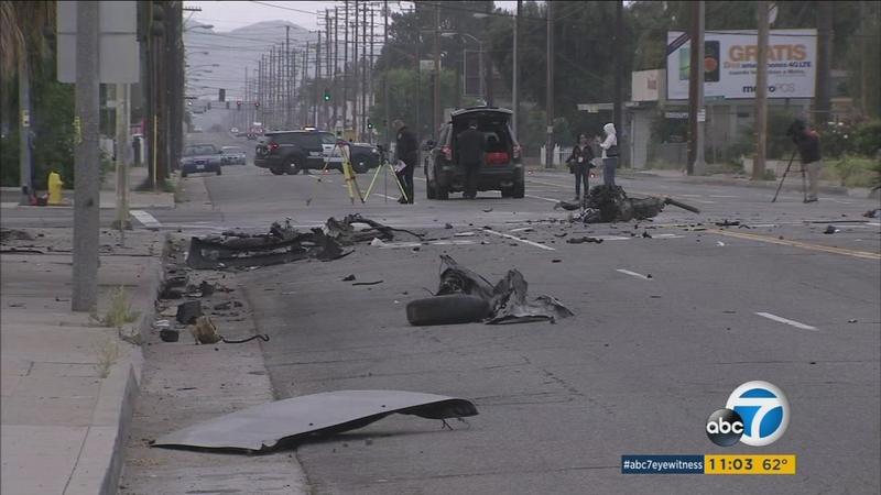 High-speed crash leaves 2 dead in San Bernardino