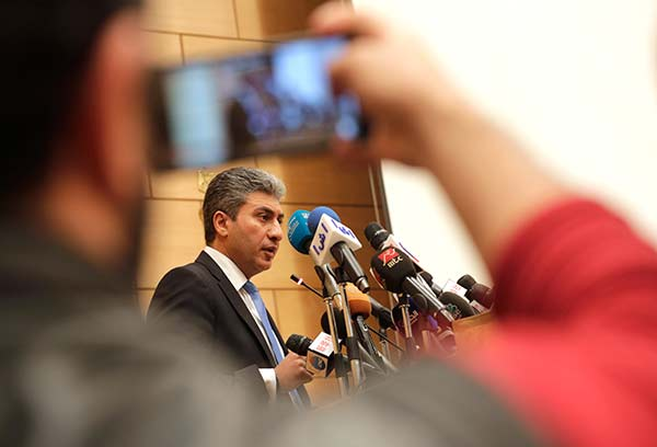 """<div class=""""meta image-caption""""><div class=""""origin-logo origin-image none""""><span>none</span></div><span class=""""caption-text"""">Egyptian Minister of Civil Aviation Sharif Fathy speaks during a press conference at the Ministry headquarters in Cairo, Egypt, Tuesday, March 29, 2016. (Amr Nabil/AP Photo)</span></div>"""