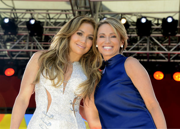 """<div class=""""meta image-caption""""><div class=""""origin-logo origin-image """"><span></span></div><span class=""""caption-text"""">Jennifer Lopez and Amy Robach at the GMA Summer Concert Series from Central Park in New York on 6/20/14.  (ABC/Ida Mae Astute) (Photo/Ida Mae Astute)</span></div>"""