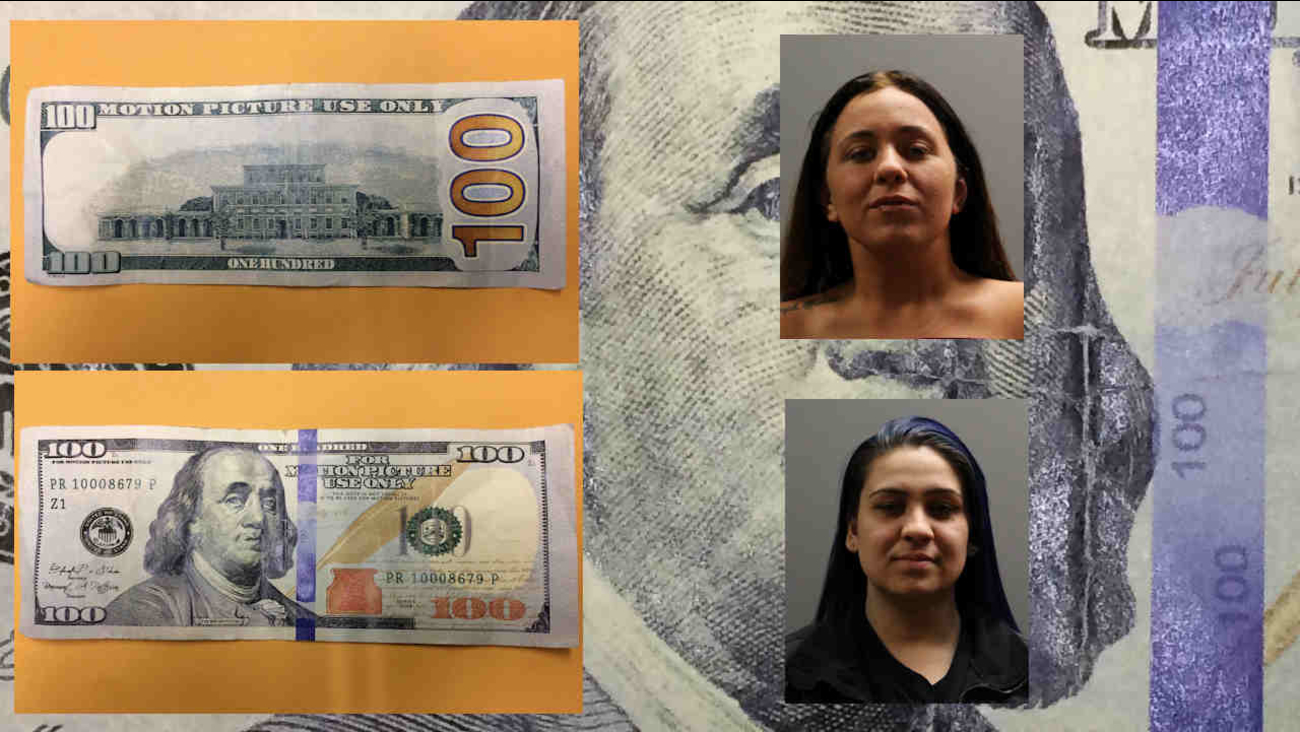 Long Island women accused of trying to shop with movie money