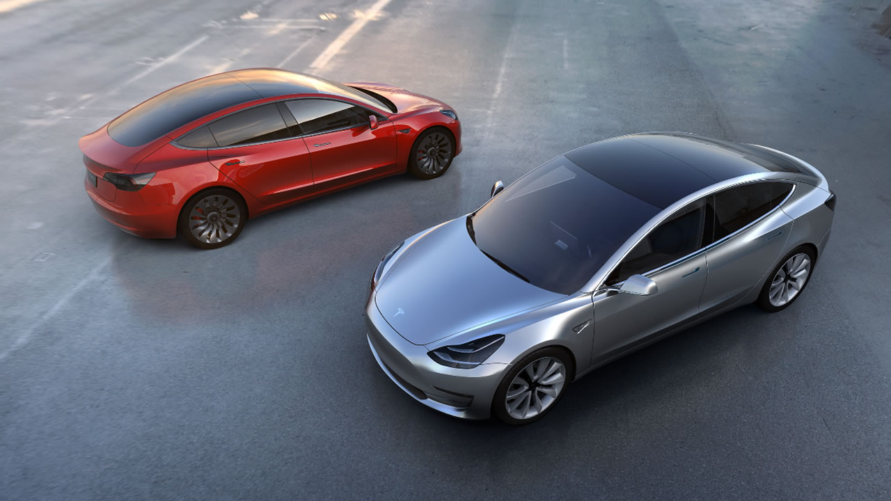 This undated photo provided by Tesla Motors shows the new Model 3 car.