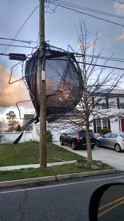 "<div class=""meta image-caption""><div class=""origin-logo origin-image wpvi""><span>WPVI</span></div><span class=""caption-text"">High winds toss a trampoline into power lines in Egg Harbor Twp., N.J. (Gary)</span></div>"