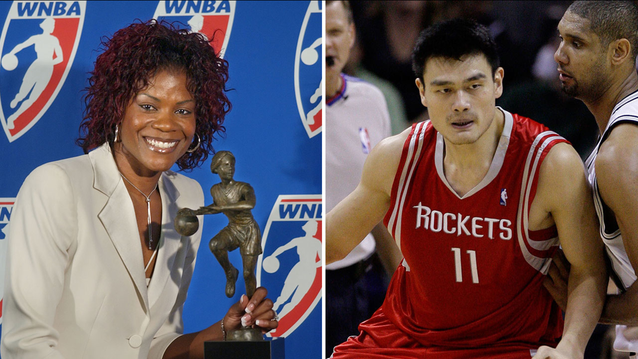 Sheryl Swoopes and Yao Ming