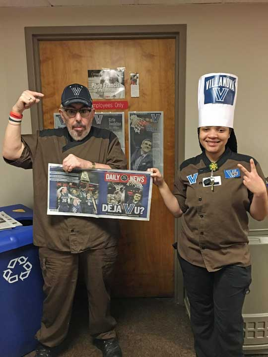 "<div class=""meta image-caption""><div class=""origin-logo origin-image wpvi""><span>WPVI</span></div><span class=""caption-text"">Mercy FitzGerald Hospital Food Service rooting for Villanova! (Tara and Frankie)</span></div>"
