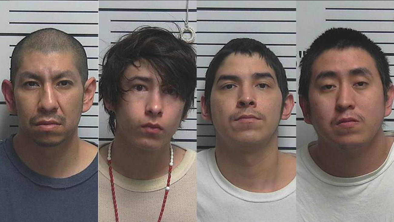 From left, Larson RonDeau, 36, Josiah RonDeau, 20, Jerry Flatlip, 29, and Randall Flatlip, 26.