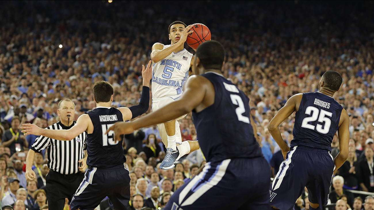 Marcus Paige hit this unbelievable, off-balance, hang-in-the-air 3-pointer to tie the game and potentially send it to overtime.