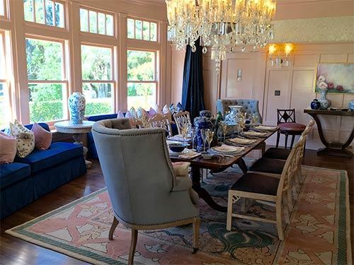 A dining room is seen inside the Dryborough Estate in La Canada Flintridge, this year's Pasadena Showcase House.
