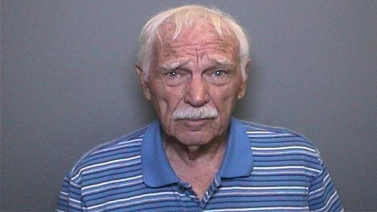 Douglas Whinery, 80, is pictured in a mugshot released by the Orange County District Attorney's Office and Tustin Police Department.