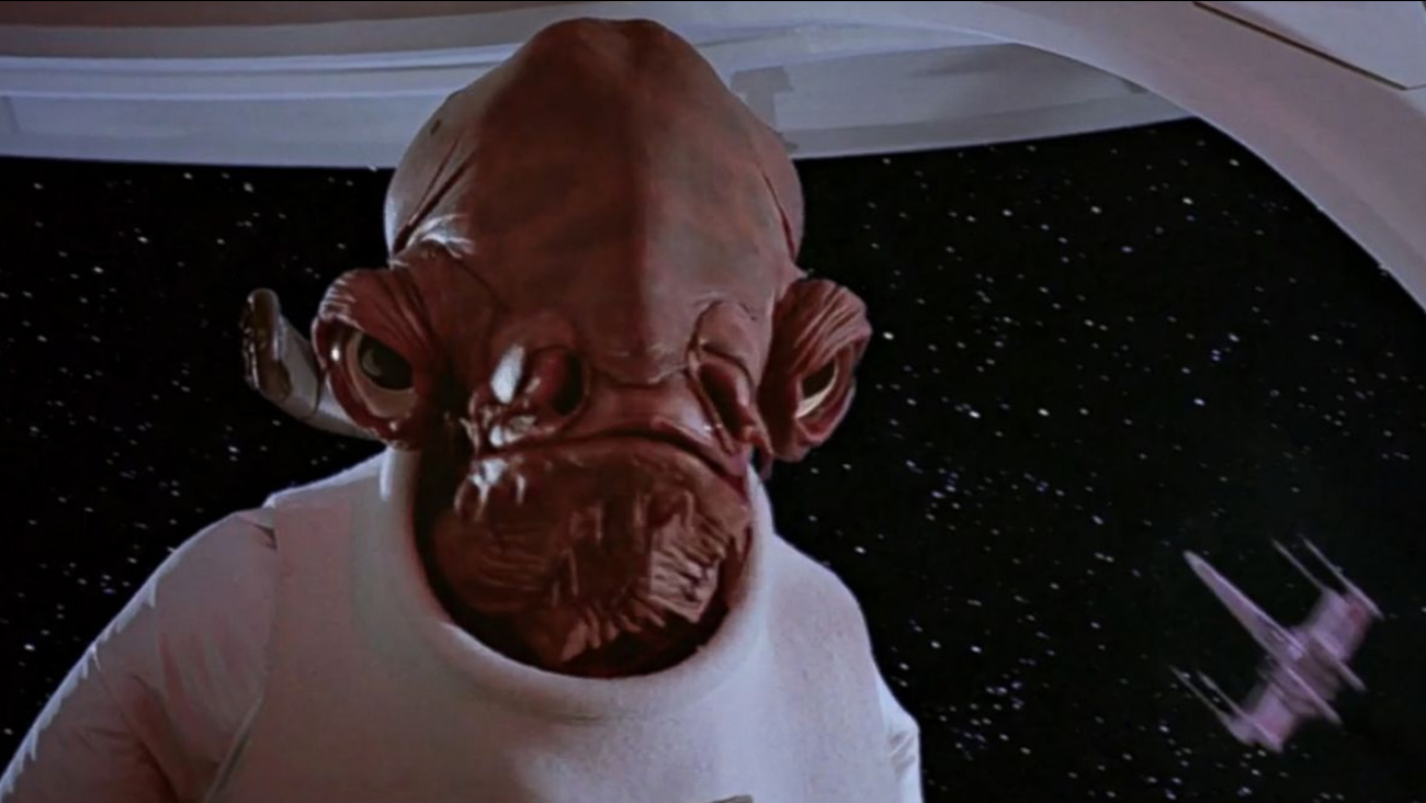 """This photo shows Admiral Ackbar, a character from """"Star Wars."""""""
